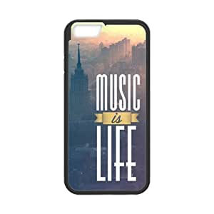 Best Slim Music is My Life City Landscape Design Case Cover for Iphone 6 For Impact Protection Super Fit Iphone 6 TPU(Laser Technology) - 4.7inches