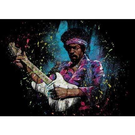 Get Down Art Stephen Fishwick Jimi Hendrix 'Electric Glow' Canvas Wall Art Jimi Electric Glow 18x24