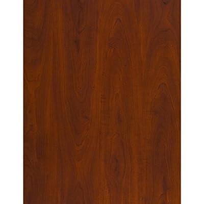 Bush Business Furniture Series C Elite 72W Height Adjustable Standing Desk with Credenza and Hutch in Hansen Cherry