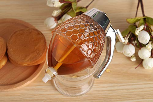 Acrylic Honey Dispenser with Coaster by Hunnibi (Image #3)