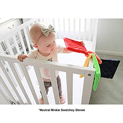 Modern Cuddle Cozy Swatchey Touch 'N Feel Sensory Soft Square's Faux Down Filled Nylon Boys Baby Crib Toys | Nursery Decor | Baby Shower Gift Idea | Soft Baby Toys : Baby