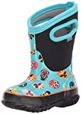 Bogs Classic High Waterproof Insulated Rubber Neoprene Rain Boot Snow, Mask Print/Light Blue/Multi, 13 M US Little Kid