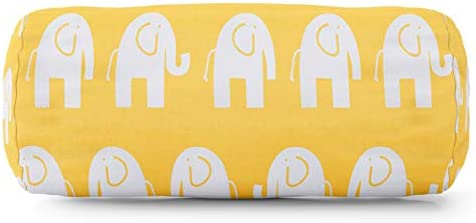 Majestic Home Goods Yellow Ellie Indoor Round Bolster Pillow 18.5 L x 8 W x 8 H