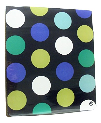 carolina-pad-studio-c-1-o-ring-vinyl-binder-with-pockets-in-the-navy-shades-of-blue-and-green-polka-
