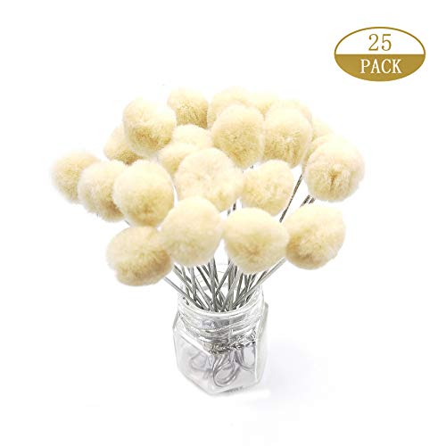 25 Pieces Wool Daubers Ball Brush Leather Dye Tool with Metal Handle Applicator for DIY Crafts Projects