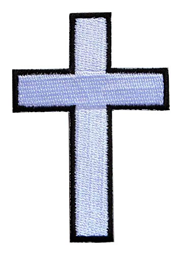 White Cross Motorcycles Biker Embroidered Iron on Patch Free Shipping
