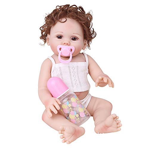 CHAREX Belly Reborn Baby Dolls, 18 Inches Full Body Silicone Vinyl ,Weighted Realistic Baby Doll (Silicone Baby Dolls Full Body)
