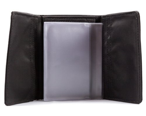 Holds Wallet Photo (Big Skinny Plastic Photo Sleeve Insert for Tri-Fold Slim Wallet, Clear)