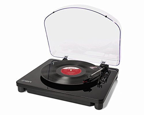 iona Audio Professional DJ 3-Speed Turntable with EZ Viny...