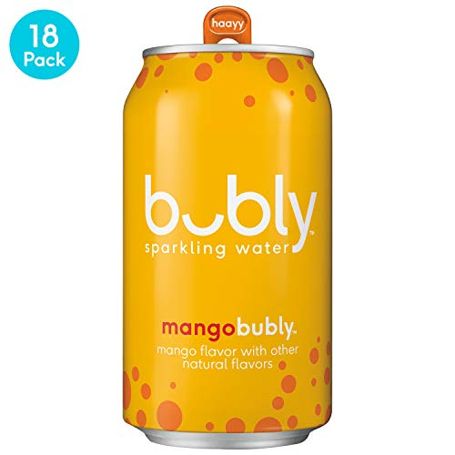 - bubly Sparkling Water, Mango, 12 fl oz. cans,  (18 Pack)