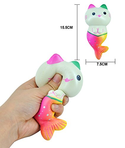 WOOW Squishy Slowing Rising - Cat Fish with Good Scent, 25+ Seconds Rising (New)