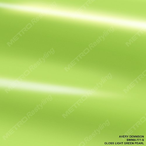 Avery SW900-777-S GLOSS LIGHT GREEN PEARLESCENT 3in x 5in (SAMPLE SIZE) Supreme Vinyl Car Wrap Film