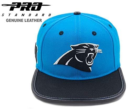 - Pro Standard Carolina Panthers Primary Full Grain Leather Flex Strap-Back Cap
