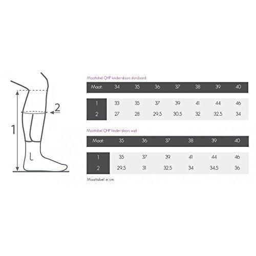 QHP Leder-Reitstiefel Marcella Kinder schwarz mit Strass-Steinen normale Wadenweite