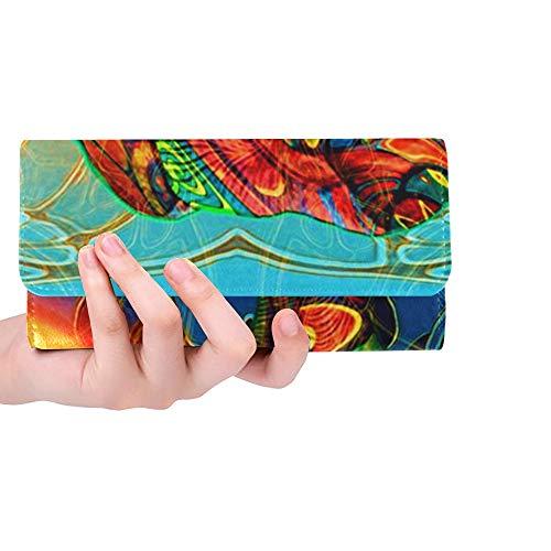 Unique Custom Hd Art Images Surrealistic Vocation Craft Iphone H Women Trifold Wallet Long Purse Credit Card Holder Case Handbag
