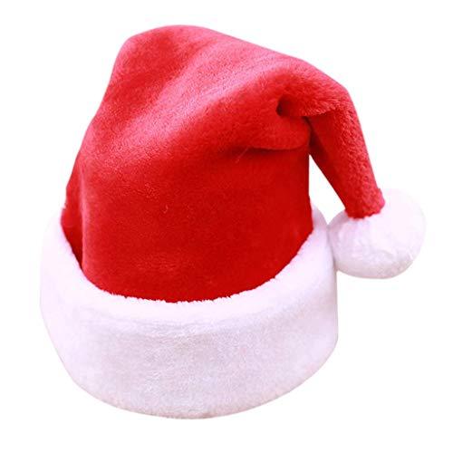 Fheaven - 4PCS Adults Christmas Hats Velvet