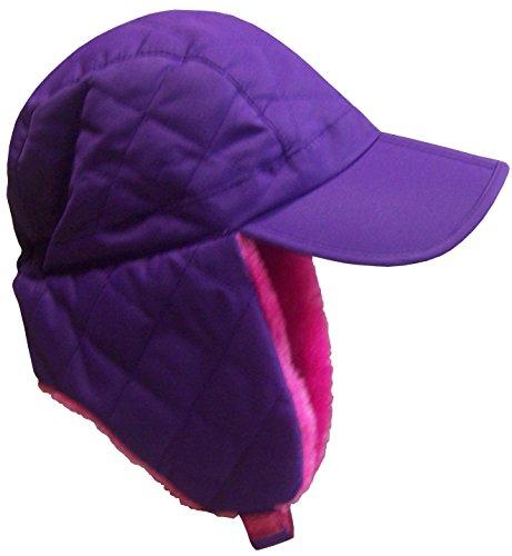 N'Ice Caps Unisex Adult Authentic Ski Flap Hat With Magical Brim (Adult S/M, purple)
