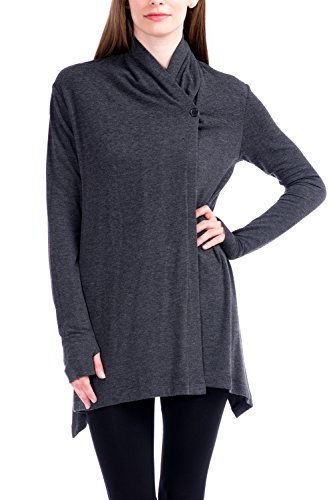 Modern Kiwi Asymmetric Buttoned Cardigan product image