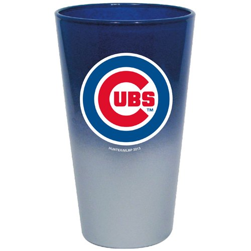 MLB Chicago Cubs Color Chrome Mixing Glass, - Glasses Cheap Chicago