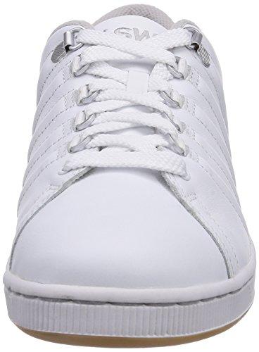 K-swiss Lozan Iii Blanc / Mouette Gris / Gomme Athlétique Baskets Chaussures De Sport Pour Hommes Taille 9,5 Neuf