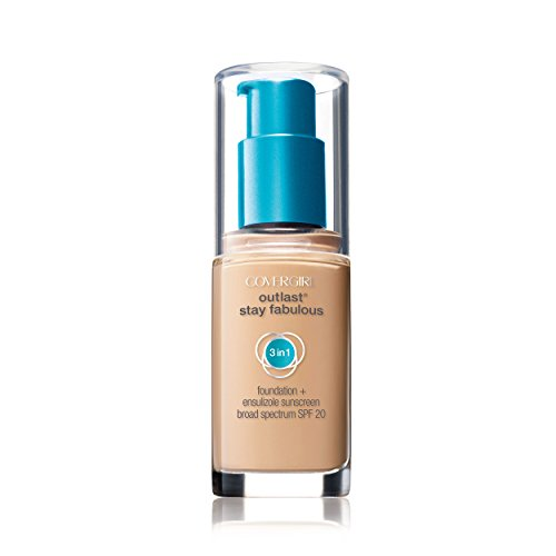COVERGIRL Outlast Stay Fabulous 3-in-1 All Day Foundation Creamy Natural, 1 fl oz (30 ml)