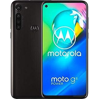 "Moto G8 Power w/ 5000 mAh Battery (64GB, 4GB) 6.4"" Dual SIM GSM Factory Unlocked, Global 4G LTE International Version (at&T/T-Mobile/MetroPCS/Cricket/H2O) XT2041-1 (64GB SD + Case Bundle) Smoke Black"