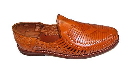 Dona Michi Hommes Authentique En Cuir Fermé Orteils Mexicains Huarches Sandale Tan