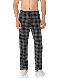 YIMANIE Men's Pajama Pant Cotton Comfy Soft Lounge Knit Sleep Pants Black,Navy,Gray,Red,Blue M-XXXL