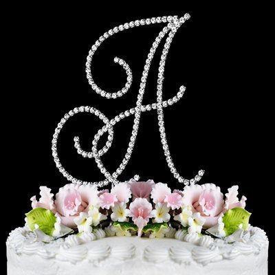 Renaissance Monogram Wedding Cake Topper Large Letter A …
