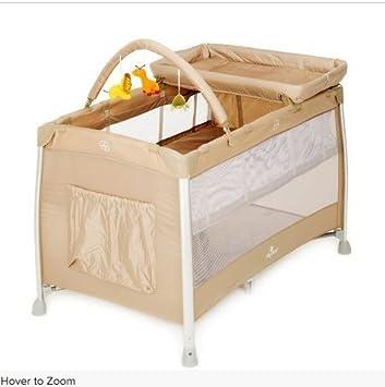 buy online 46735 11a1d BabyLo Siesta Travel Cot 3 in 1 Sand: Amazon.co.uk: Baby