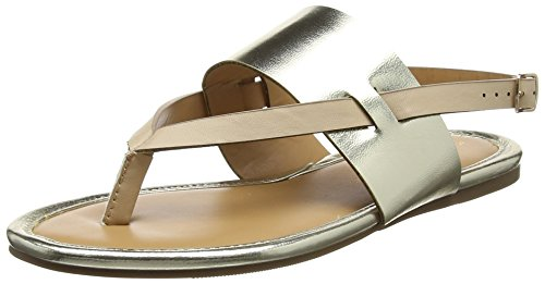 Dorothy Perkins Women's Future Metalic Open Toe Sandals Beige (Nude 40) KR127