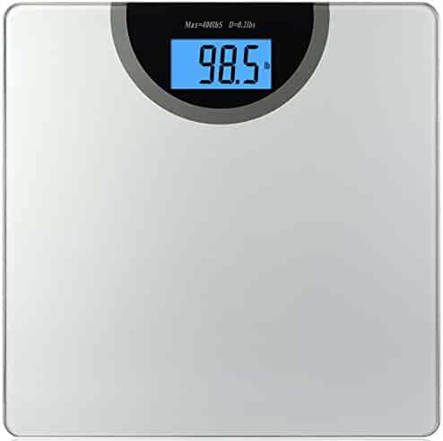 BalanceFrom Digital Body Weight Bathroom Scale with Step-On Technology and Backlight Display, 400 Pounds