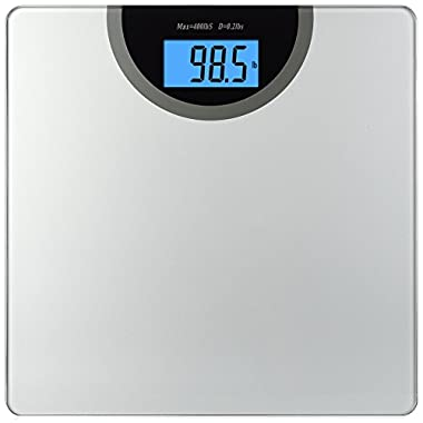 BalanceFrom High Accuracy Digital Bathroom Scale with Backlit Display and Step-On Technology [NEWEST VERSION] (Silver)