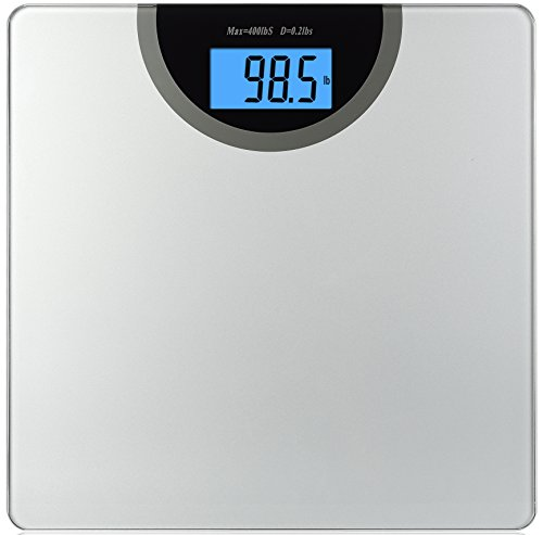 BalanceFrom High Accuracy Premium Digital Bathroom Scale Extra Large Dual Color Backlight Display and