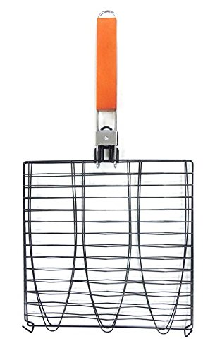 Flexible Grill Basket (MR. BAR-B-Q 06623X Triple Non Stick Fish Basket, Black)