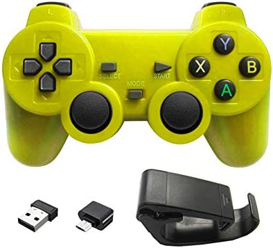 Aubess - Mando inalámbrico para juegos (compatible con smartphones Android + Windows, Samsung, PC, PS3, TV Box) amarillo amarillo Type-c: Amazon.es: Electrónica