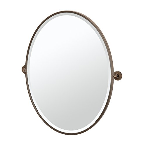 Gatco 4499FLG Montgomery Framed Large Oval Mirror, (Framed Pivoting Mirror)