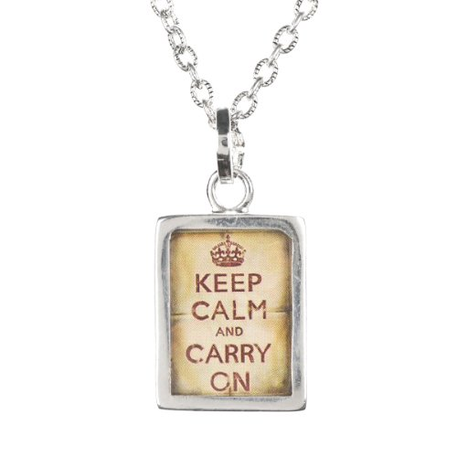 Pick Up Sticks Jewelry Co. Charm Necklace – Keep Calm and Carry On