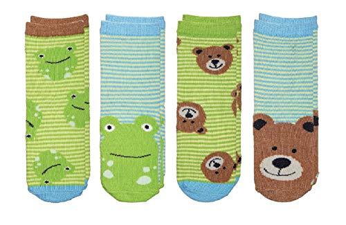 Price comparison product image FlapJackKids - Kids' Sock Safari - Bear / Frog Toddler (1-3 yrs)(4 Pairs)
