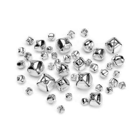 Darice Bulk Buy DIY Assorted Silver Jingle Bells 43 Pieces (6-Pack) 1090-62