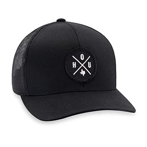 Houston Hat - HOU Trucker Hat Baseball Cap Snapback Golf Hat (Black)