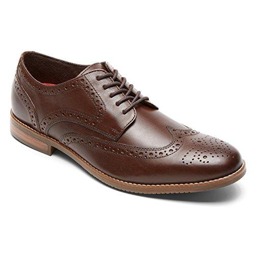 Brown Leather Wingtip - Rockport Men's Style Purpose Wingtip Oxford- Dark Brown-10 M
