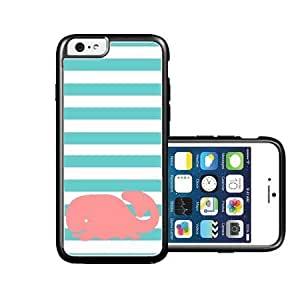 RCGrafix Brand Whale Teal Stripes iPhone 6 Case - Fits NEW Apple iPhone 6