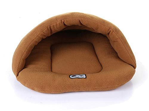 RubyShopUU Cute Cat Sleeping Bag Warm Comfortable House Kennel Bed Multi-Function Pet Cat Dog Fleece Sleeping Bag Cushion