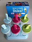Popsicle Molds, Ozera Set of 6 Ice Pop Molds Maker, Popsicle Trays - With Silicone Funnel & Cleaning Brush - Assorted Colors (Style 02)