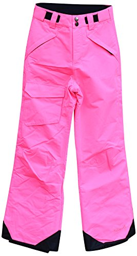 Pulse Big Girls Rider Skiing Ski Snow Pants Insulated (M (10/12), Pink)