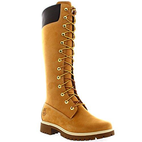 Timberland Women's 14 Inch Premium WP Knee-High Boot,Wheat,8 W US