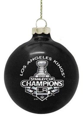 Los Angeles Kings NHL Hockey 2012 Stanley Cup Champions Black Ball Christmas Ornament