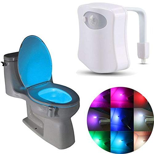 Roomstyle Motion Sensor Toilet Seat Lighting 8 Colors Backlight ...