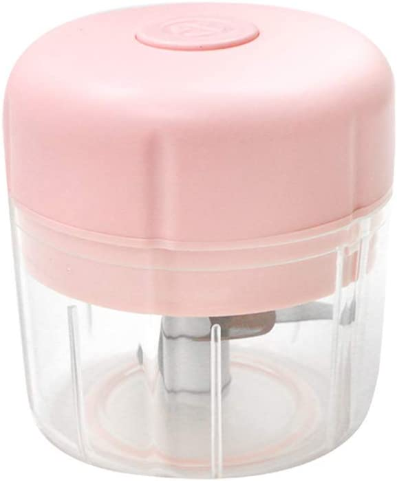 Wireless Electric Small Food Choppers, Mini Food Processor For Garlic Veggie Vegetables fruit,Salad Mincing & Puree,Kitchen,1 Cup 250ML,BPA free,Pink